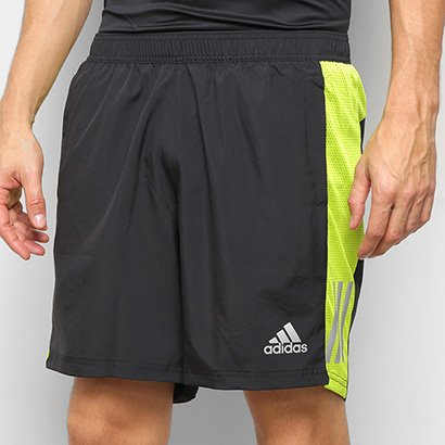 Bermuda Adidas Own The Run Logo Masculina