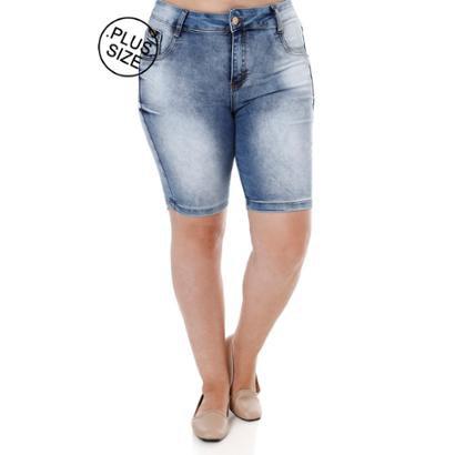 Bermuda Amuage Jeans Plus Size Amuage Feminina-Feminino