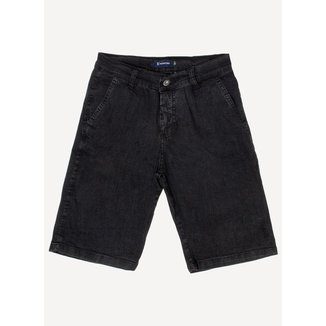 Bermuda Jeans Aleatory Full Black Masculina