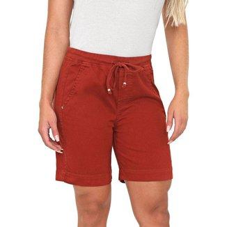 Bermuda Jeans Bloom Jogger Terra Feminina