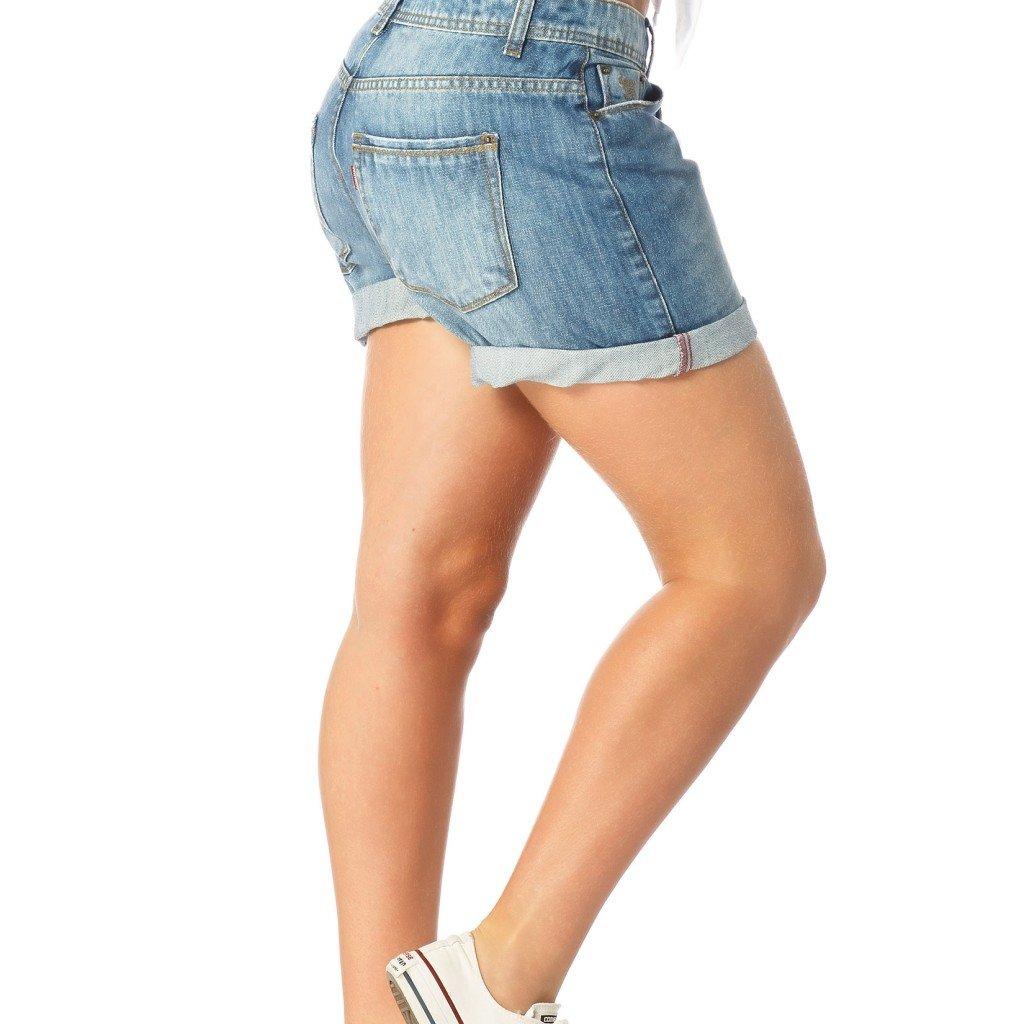 5eb54196becf2 Bermuda Jeans Denim Zero Boyfriend Estonada - DZ6190 - Compre Agora ...