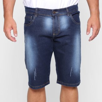 Bermuda Jeans Grifle Elastano Masculina