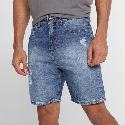 Bermuda Jeans Hering Puídos Masculina