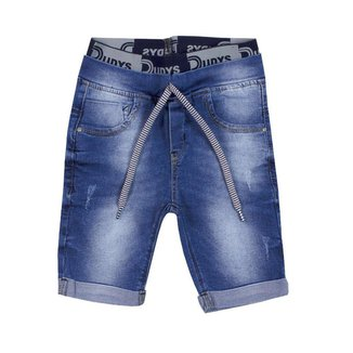 Bermuda Jeans Infantil Cintura Elástico Com Amarração Dudy's Boy