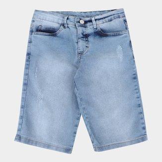 Bermuda Jeans Infantil Malwee Básica Masculina