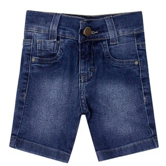 Bermuda Jeans Infantil Menino Básica Mox