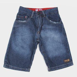 Bermuda Jeans Juvenil Fatal Regular Masculina