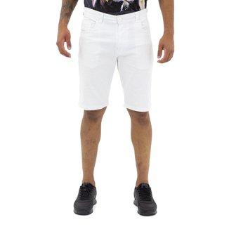 Bermuda Jeans Masculina Branca Drover