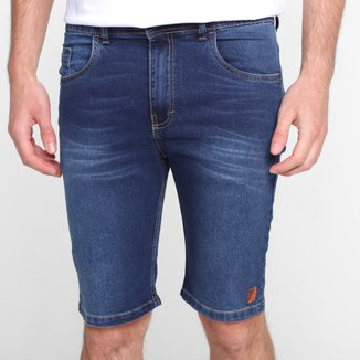 Bermuda Jeans Nicoboco Slim Fit Holgs Masculina