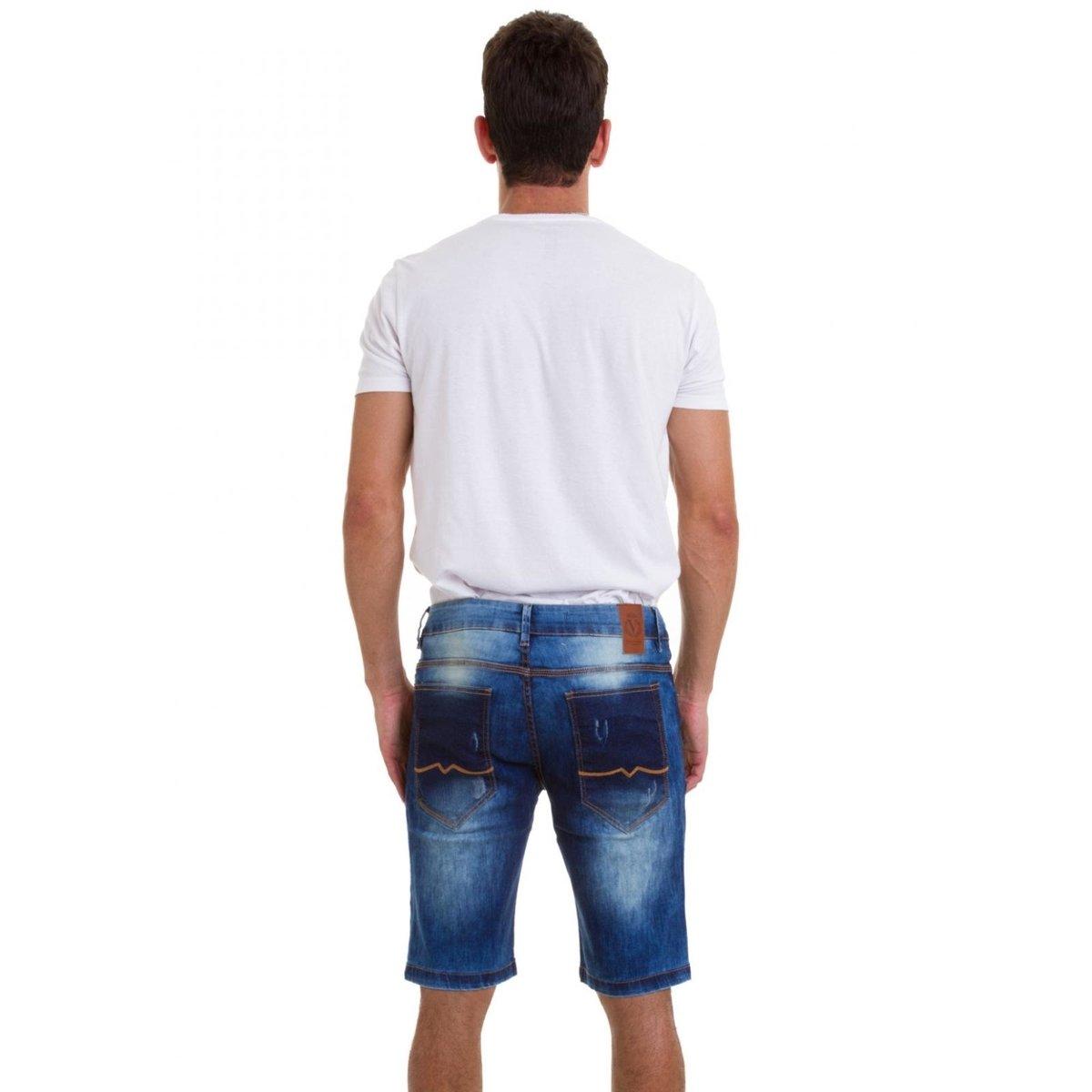 Bermuda Jeans Versani Masculina - Jeans
