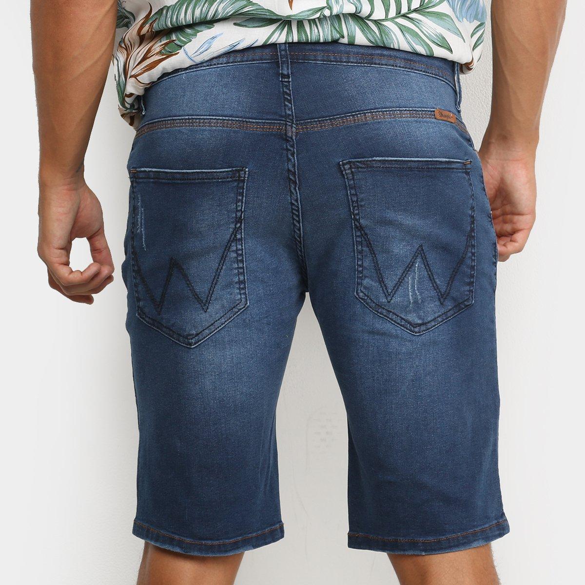 Bermuda Jeans Wrangler Básica Masculina - Azul