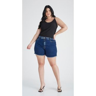 Bermuda Jeans Zait Plus Size Mom Juliana Feminina