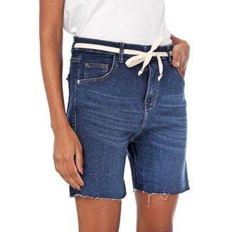 Bermuda Jogger Malha Jeans Feminina