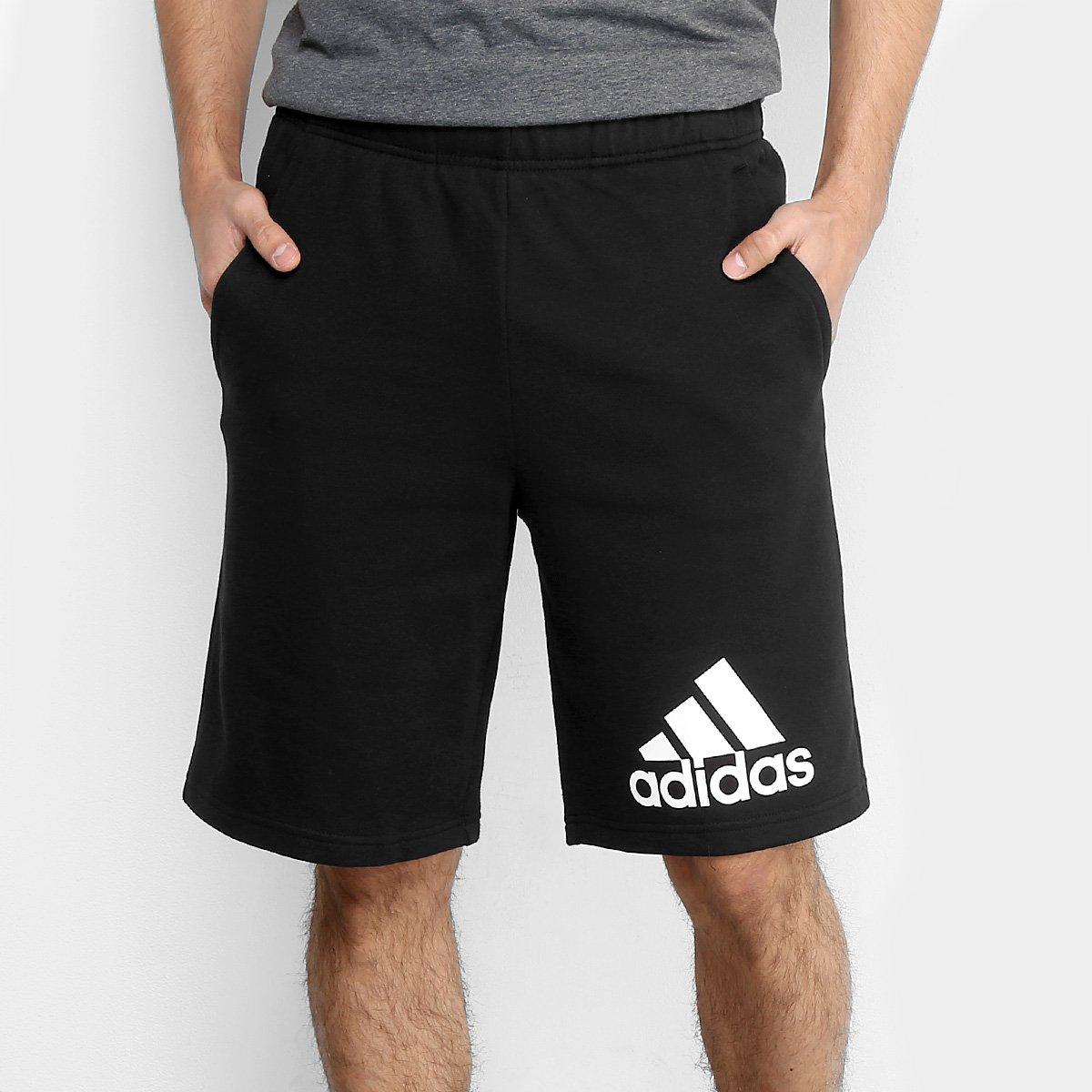 Bermuda Moletom Adidas Knit Masculino Zattini
