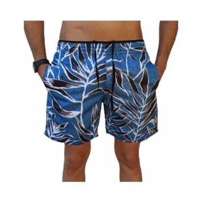 Bermuda Short Moda Praia Estampados Relaxado Masculina