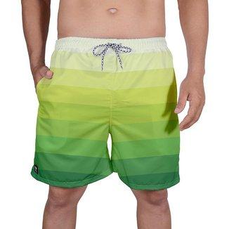 Bermuda Tactel Masculina Estampa Mix Cores Leve Verão Praia