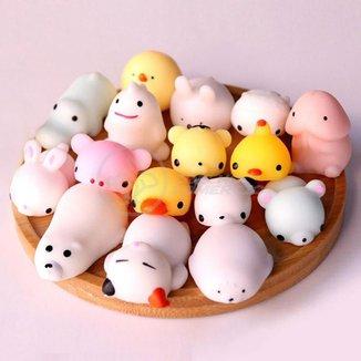 Bichinhos Squishy Mochi Fidget Toy Brinquedo Anti Stress de Apertar TikTok Silicone Sensorial Relaxa