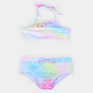 Bíquini Infantil Fakini Tie Dye UV 50+ Feminino
