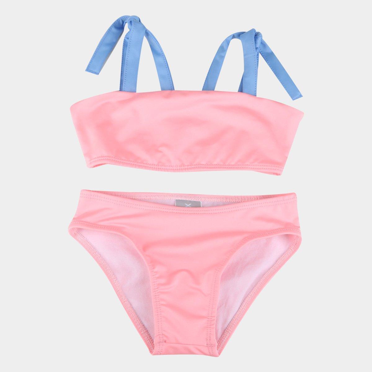 Biquíni Hering com proteção UV 50+ rosa