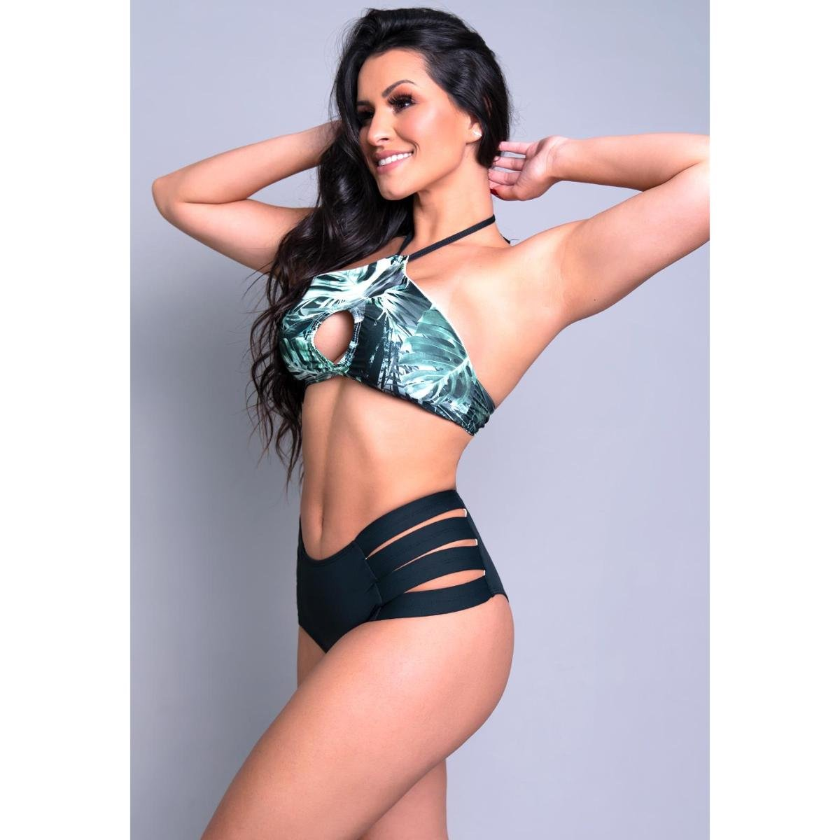 Biquíni Mvb Modas Gladiador Hot Pants Feminino - Preto