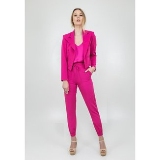 Blazer Pink Alfaiataria Botões Golden Dress Feminino