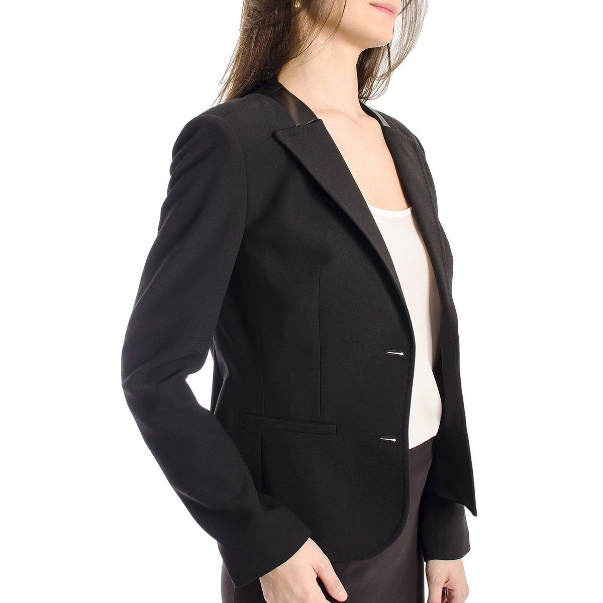 Blazer Social Calvin Klein Feminino - Preto - Compre Agora   Zattini 99fe6e06d6