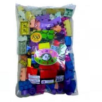 Blocos De Montar C/100 Pçs Grandes Brinquedo Educativo