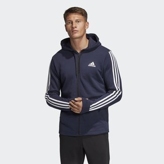 Blusa Adidas Capuz French Terry Must Haves Três Listras Masculina