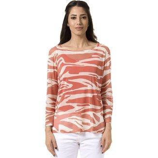 Blusa Bloom Tule Zebra Feminina