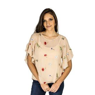 Blusa Bordado Colcci Feminino