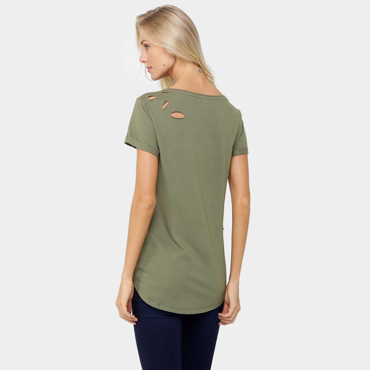 36880b615a982 Blusa Calvin Klein Long Furos Feminina - Compre Agora   Zattini