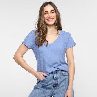 Blusa Canelada Lunender Básica Feminina