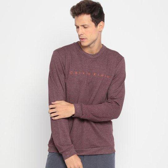 Blusa Careca Calvin Klein Freece Masculino - Vermelho