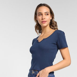 Blusa Cativa Decote V Feminina