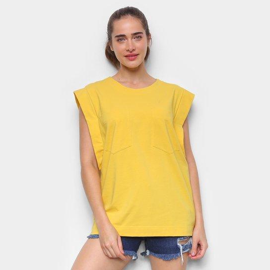 Blusa Colcci Lisa C/ Bolso Feminina - Dourado