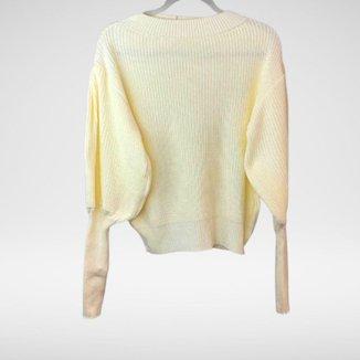 Blusa de manga longa bufante Stefania - Glam Tricot