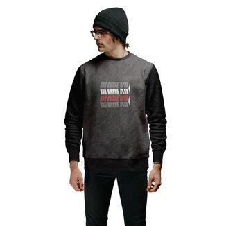 Blusa de Moletom Di Nuevo Street Wear 4 Logos Masculino
