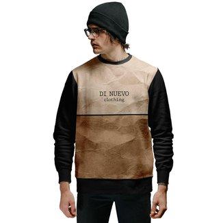 Blusa de Moletom Textura Papel Amassado Di Nuevo Masculina