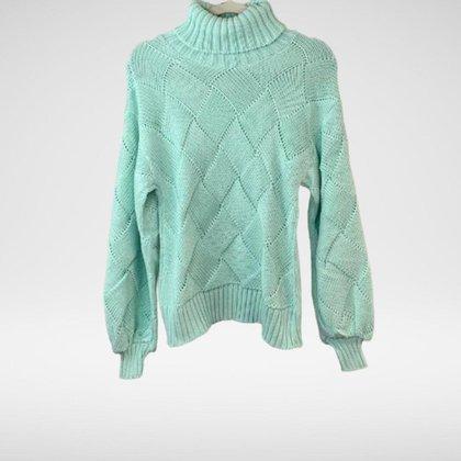Blusa de tricot manga e gola comprida Elisa - Glam Tricot