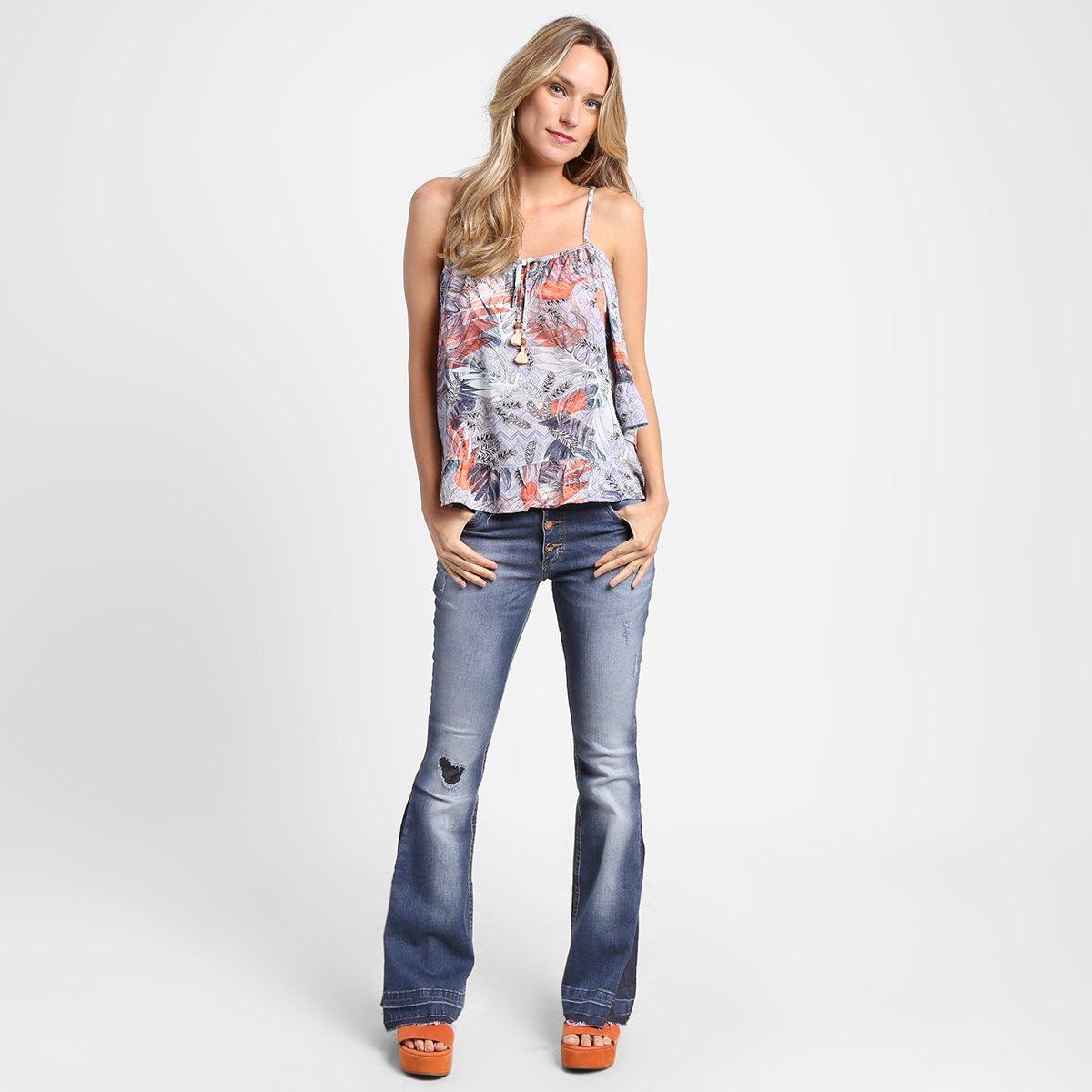 Blusa Disparate Bata Estampada Amarração - Compre Agora  b613763c79f1d