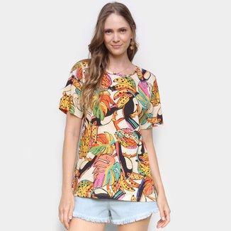 Blusa Farm T-Shirt Cachos De Tucano Feminina