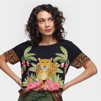 Blusa Farm T-Shirt Lenço Postal Feminina