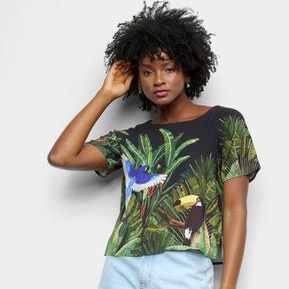 Blusa Farm Tshirt Fauna Invernal Feminina