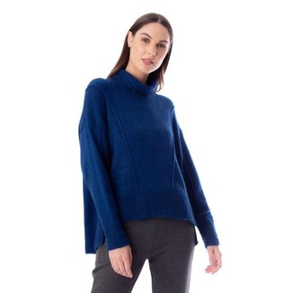 Blusa Feminina Biamar Malharia Azul Escuro