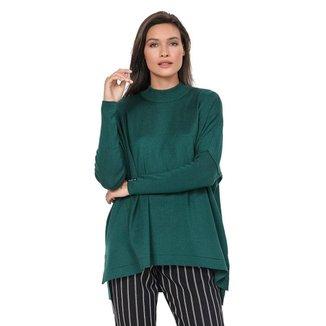 Blusa Feminina Biamar Oversized Malharia Bordô