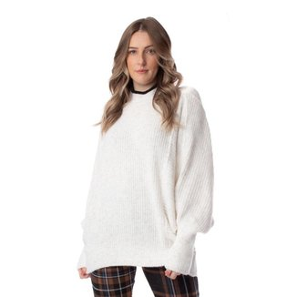 Blusa Feminina Biamar Oversized Malharia Branco