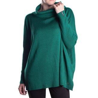 Blusa Feminina Biamar Oversized Malharia Verde Escuro