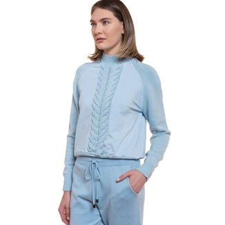 Blusa Feminina Biamar Trançada Azul Claro