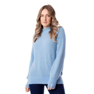 Blusa Feminina Biamar Tricô Azul Claro
