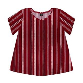 Blusa Feminina Estampada Rovitex Vermelho Plus G1